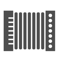 Accordion glyph icon musical and instrument vector