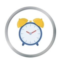 Alarm clock icon in cartoon style isolated on vector