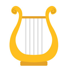 ancient greek lyre flat icon music vector image