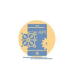 Api application coding development mobile glyph vector