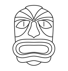 aztec wood idol icon outline style vector image