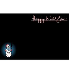 Background with Christmas tree of baseball vector image