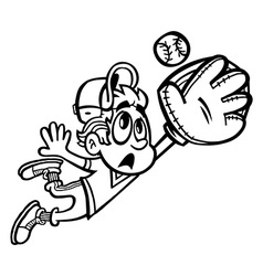 Baseball Player Kid cartoon vector