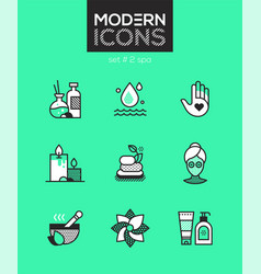 Beauty spa - set of line design style icons vector