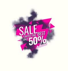 best sale banner original poster discount vector image