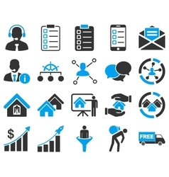 Business sales real estate icon set vector image