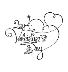 Calligraphic text 2014 valentines day vector