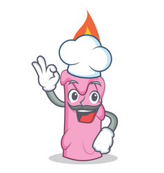 Chef candle character cartoon style vector