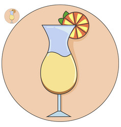 cocktail in a glass icon vector image