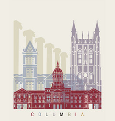Columbia mo skyline poster vector