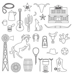 Cowboy digital stamps vector