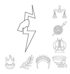 Design mythology and god logo set vector