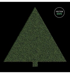 Dotted fir tree background Dots vector