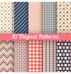 Elegant seamless patterns vector