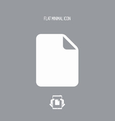 empty new document - minimal flat icon vector image