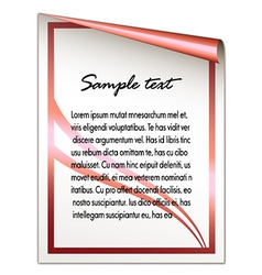 Festive sheet vector