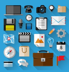 Flat icons bundle vector