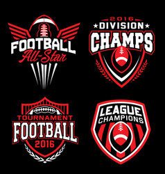 Football sport emblem set vector