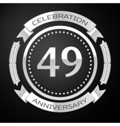 Forty nine years anniversary celebration with vector