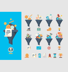 funnel generation sales business generative vector image