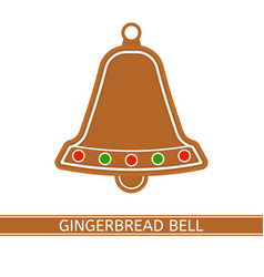 gingerbread christmas bell vector image