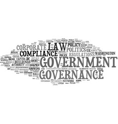 Governance word cloud concept vector