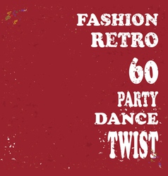 grunge retro poster vector image