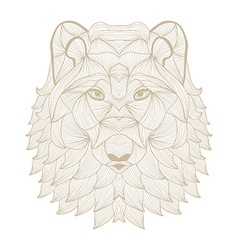 Hand drawn decorative wolf vector