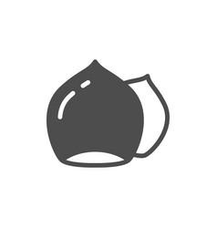 Hazelnut glyph icon or nuts symbol vector