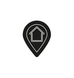 home gps - map pointer map pin icon - arrow pin vector image