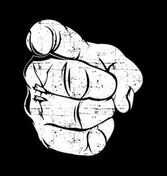 human hand with finger pointing or gesturing vector image