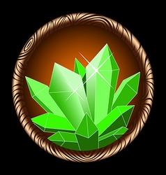 Icon crystal vector