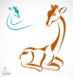 image of an giraffe vector image