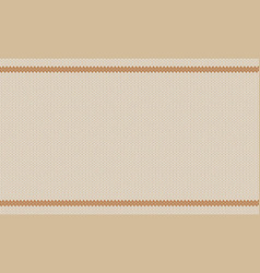 Knitted wool melange texture beige tint of almond vector