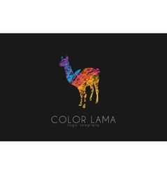 Lama logo color logo design creative logo vector