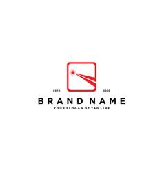 Laser logo design vector