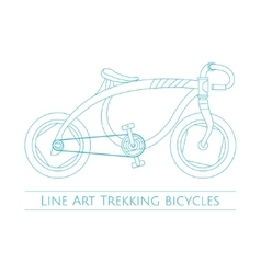 Line Art Trekking Bicycles One vector image