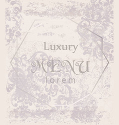 Luxury ornamented background royal luxury vector