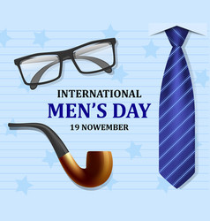 mens day concept background realistic style vector image