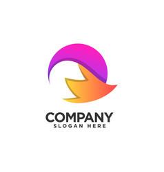 Modern fox logo design template vector
