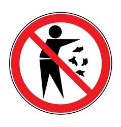 no trash sign vector image