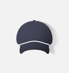 Paper clipped sticker headgear cap vector