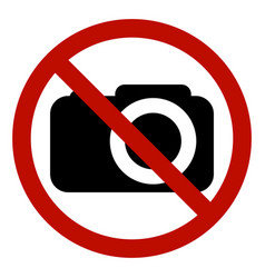 prohibiting sign photo video shooting no photo vector image