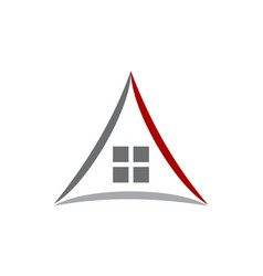 Real estate solution center vector