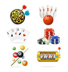 realistic detailed 3d casino sport and leisure vector image