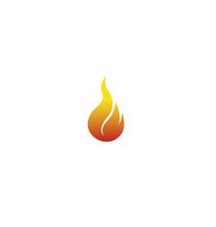 Red fire symbol flame logo icon design vector