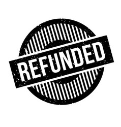 Refunded rubber stamp vector