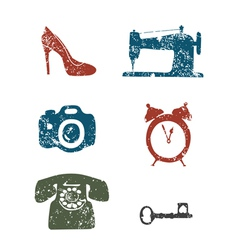 repair shops icons vector image