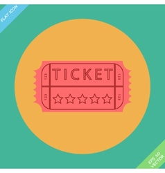 Retro cinema ticket - vector