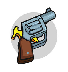 Revolver pistol gun art vector